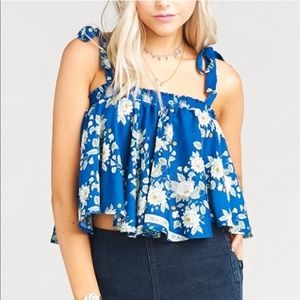 Show Me Your MuMu Nini Tie Crop Top—L